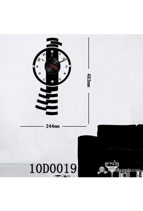 Karin Stickerli Tasarım Saat-48Cmx24cm