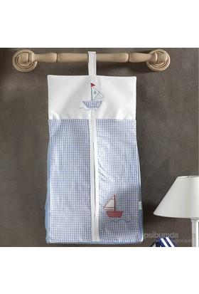 Kidboo Blue Marine Bebek Kirli Çamaşır Torbası 30X65 Cm