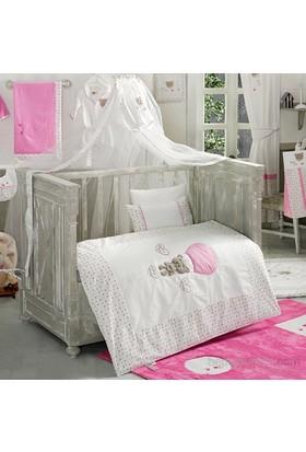 Kidboo Cute Bear Pink Bebek Cibinlik 180X500 Cm