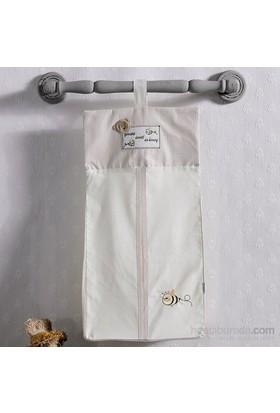 Kidboo Honey Bear Linen Bebek Kirli Çamaşır Torbası 30X65 Cm