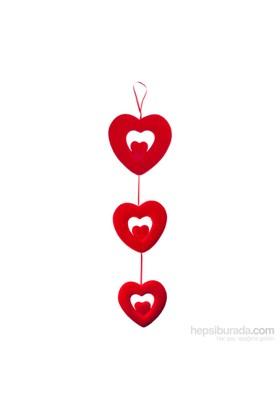 KullanAtMarket 3Lü Kalp Asma Süs