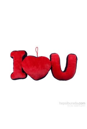 KullanAtMarket I Love You Yastık Asma Süs