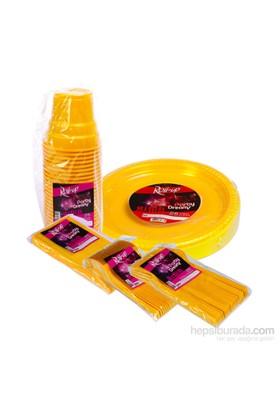 KullanAtMarket Sarı Sofra Seti 125 Adet