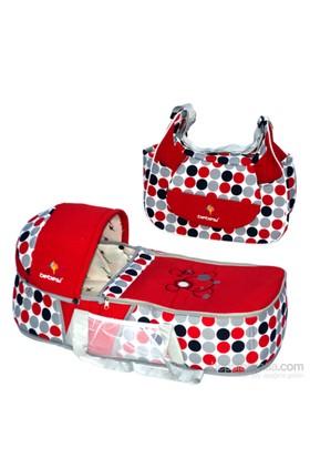 Bebesi Safir İkili Set (Portbebe + Çanta) - Kırmızı