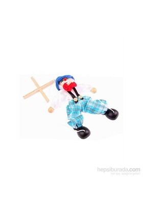 Wooden Toys Ahşap Kukla Palyanço