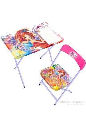 Winx Yazı Tahtalı Masa Sandalye Seti