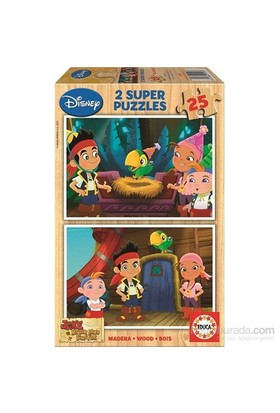 Educa Jake And The Neverland Pırates - 2X25 Parça Ahşap Puzzle