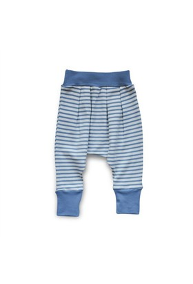Baby Corner Çizgili Şalvar Pantolon İndigo Ekru