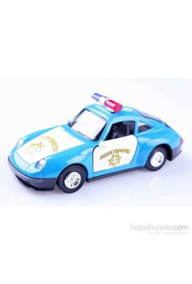 Nani Toys Porsche Işıklı ve Müzikli Çek-Bırak Metal Araba