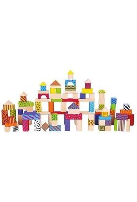 Viga Renkli Ahşap Bloklar 100 Parça Vg 59696