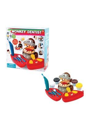 Oyun Hamuru Set Dişçi Maymun 4 Hamurlu B/O Byk.