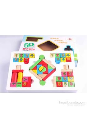 Nani Toys Matematik Ahşap 50'li Blok Seti