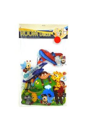 Hello 3 Boyutlu Sticker Sevimli Maymun