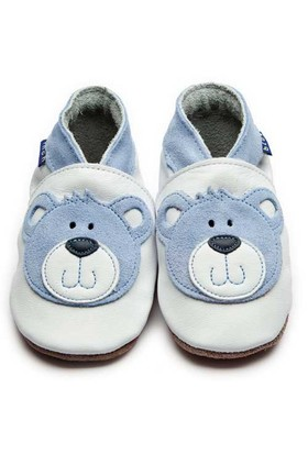 İnch Blue Hakiki Deriden Patik Teddy White - Blue