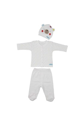 Bebepan Mrs Cream Bebek Pijama Takımı