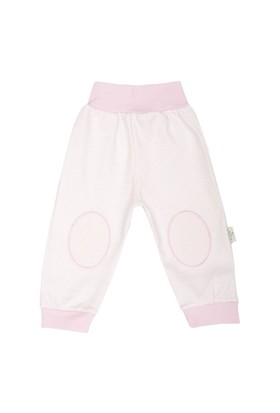 Minou Organik Pantolon/Pijama Pembe Çizgili