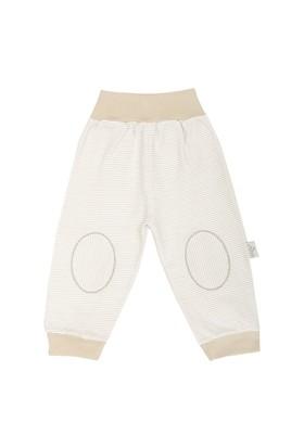Minou Organik Pantolon/Pijama Haki Çizgili
