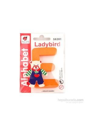 Lady Bird Dekoratif Harf E