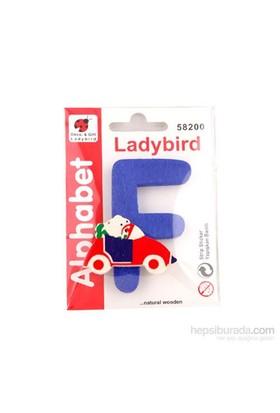 Lady Bird Dekoratif Harf F