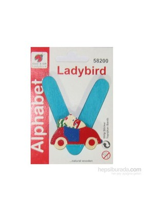 Lady Bird Dekoratif Harf V