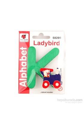Lady Bird Dekoratif Harf K