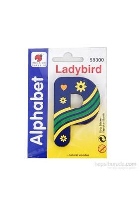 Lady Bird Dekoratif Harf P