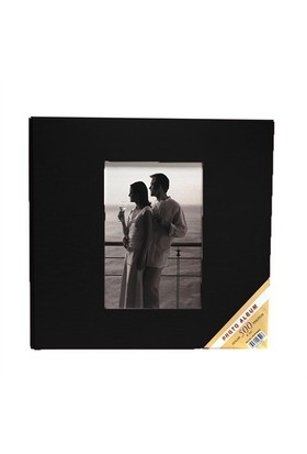 500'Lük Deri Fotoğraf Albümü-Siyah