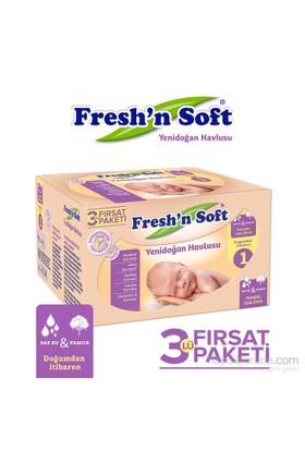 Fresh'n Soft Yenidoğan Islak Mendil 3'lü Fırsat Paketi / 120 Yaprak