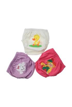 Modakids Kız Bebek Sevimli 3'Lü Alıştırma Külodu 035-60155-003