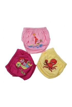 Modakids Kız Bebek Sevimli 3'Lü Alıştırma Külodu 035-60155-017