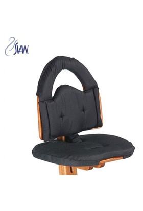 Svan Mama Sandalye Minderi Siyah