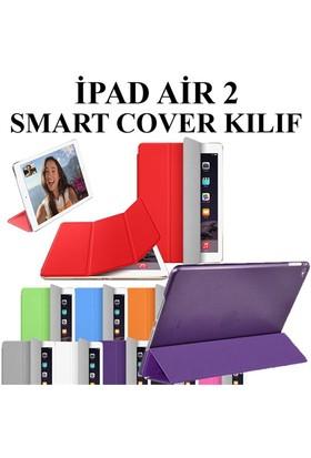 Markacase Ipad Air 2 - Ipad 6 Smart Cover Uyku Modlu İnce Arkası Şeffaf Kılıf