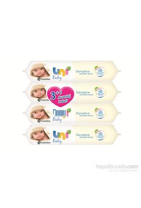 Uni Baby Sensitive Islak Havlu 4 al 3 öde Fırsat Paketi / 224 Yaprak