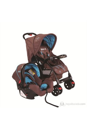 Wei-B Versatil Seyahat Sistem Bebek Arabası / Kahve-Mavi