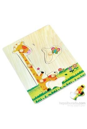 Pal Sevimli Zürafa - Ahşap Puzzle Yerini Bul