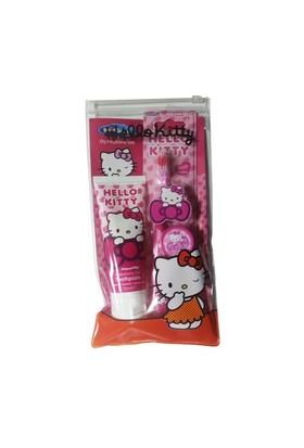 Hello Kitty Çantalı Diş Fırçalama Seti