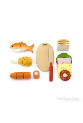 Vıga Toys Ahşap Yiyecekler
