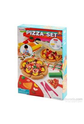 Sunman Oyun Hamuru Set Pizza Yapımı 3 Hamurlu Kçk.