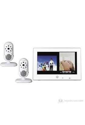 Motorola MFV 702 Çift Kameralı & PhotoFrame Dijital Bebek Telsizi / Beyaz