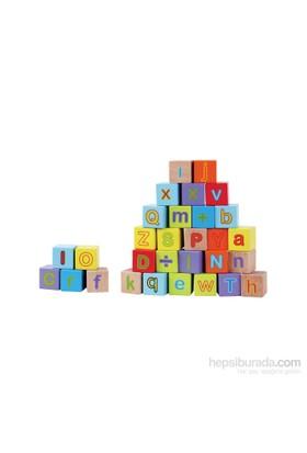 Kanz Ahşap 30 Prç Alfabe Bloklar