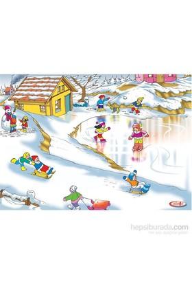 Eksen Kış Mevsimi Ahşap Puzzle / 35 Parça