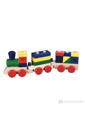 Eksen Ahşap Tren Geometrik Şekiller