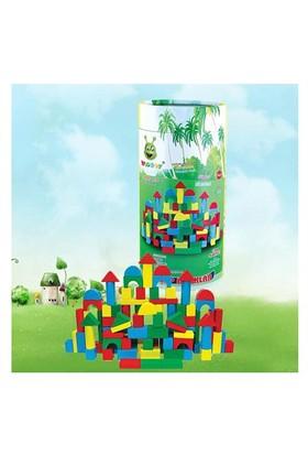 Oyuncakavm Ahşap 100 Parça Bloklar