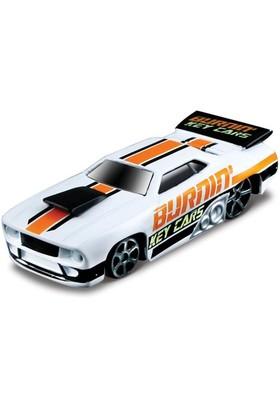 Maisto Burning Key Cars Beyaz Turuncu Oyuncak Araba