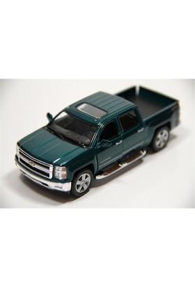 Kinsmart Yeşil 2014 Chevrolet Silverado 1:46 Ölçekli Metal Araba