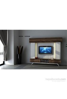 Hayal 1233446 Tv Ünitesi Leon Ceviz/Parlak Beyaz