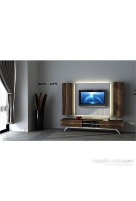 Hayal 12446 Tv Ünitesi Leon Ceviz/Parlak Beyaz