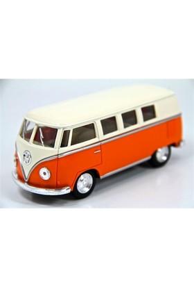 Kinsmart 1962 Volkswagen Classical Bus (Turuncu-Krem) 1:32 Diecast Metal