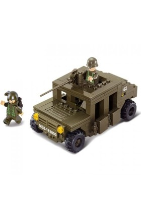 Sluban Yapboz Blok 175 Parça Hummer Jeep Squadcar