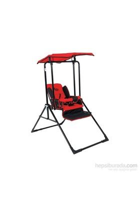 Babyhope 803 Tam Yatarlı Dört Kademeli Tenteli Salıncak -Kırmızı/Siyah